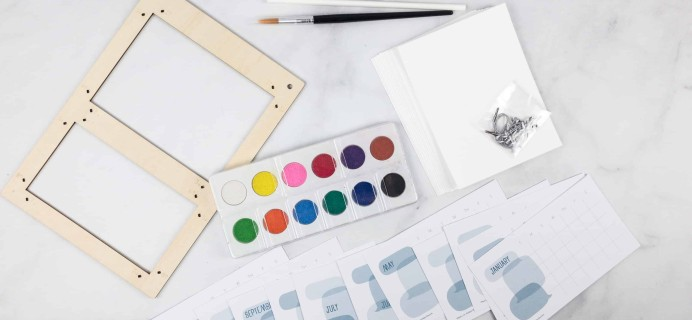 Doodle Crate February 2018 Subscription Box Review & amp; Coupon – WATERCOLOR CALENDAR!