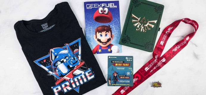 Geek Fuel January 2018 Subscription Box Review + Coupon!