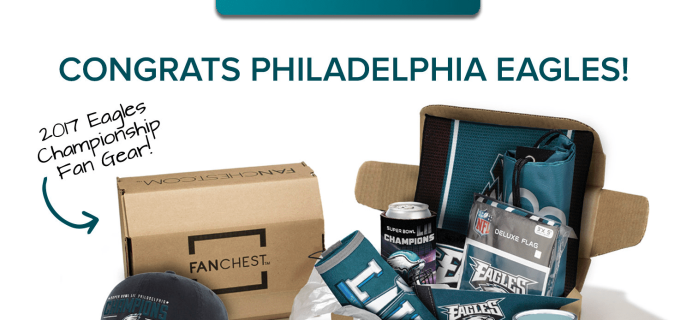 Fanchest Philadelphia Eagles Championship Chest Available Now + Coupon!