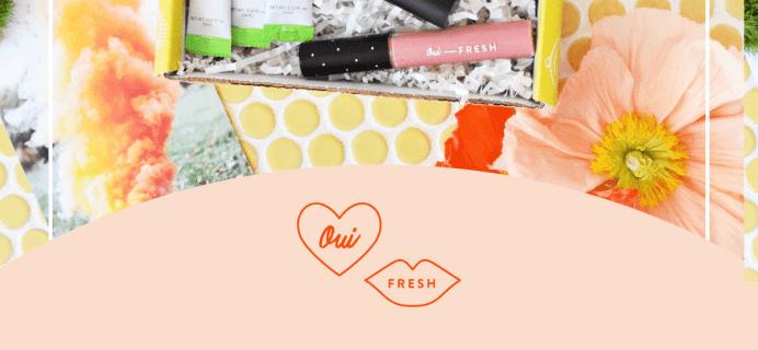 Oui Fresh Beauty Box March 2018 Full Spoilers!
