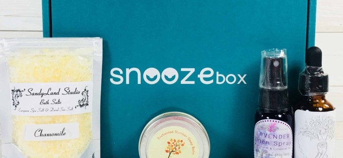 SnoozeBox March 2018 Subscription Box Review