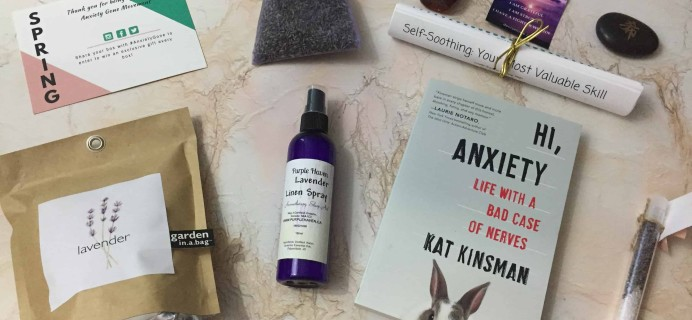 Anxiety Gone Spring 2018 Subscription Box Review + Coupon