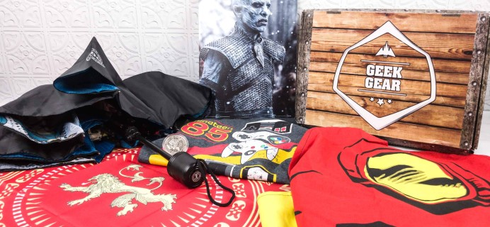 Geek Gear Box February 2018 Subscription Box Review + Coupon