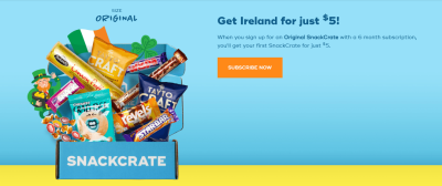 Snack Crate St. Patrick's Day Deal: Get Your First Snack Crate For $5!