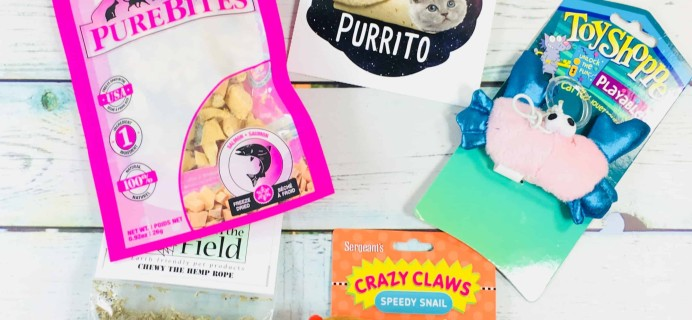 Pet Treater Cat Pack March 2018 Subscription Box Review + Coupon