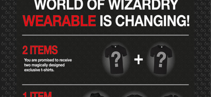 Geek Gear World of Wizardry Wearables Subscription Update + April Spoilers + Coupon!