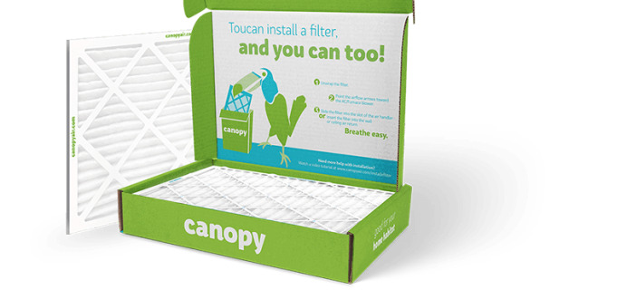 Canopy Air Deal: Get First Filter Free With An Annual Plan!