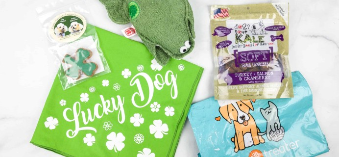 Pet Treater Dog Box Mini March 2018 Subscription Box Review + 50% Off Coupon!