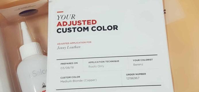 March 2018 eSalon Custom Hair Color Subscription Review + Coupon