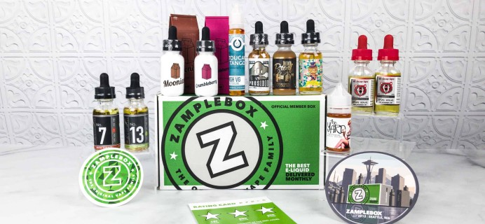 Zamplebox E-Juice March 2018 Subscription Box Review + Coupon!