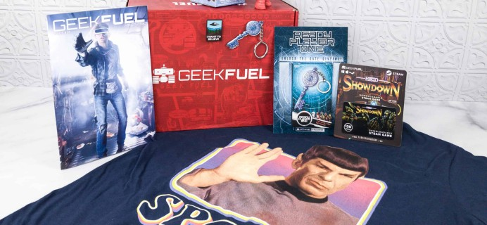 Geek Fuel March 2018 Subscription Box Review + Coupon!