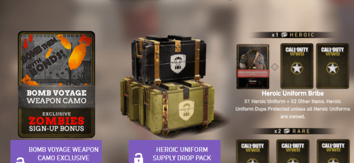 Twitch Prime Deal: Get FREE Call of Duty: WWII Content + Monthly Supply Drop Packs!