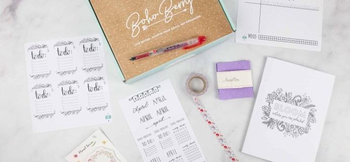 Boho Berry Box April 2018 Subscription Box Review & Coupon