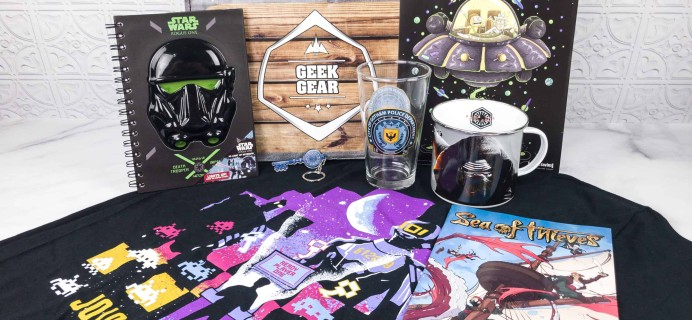 Geek Gear Box March 2018 Subscription Box Review + Coupon