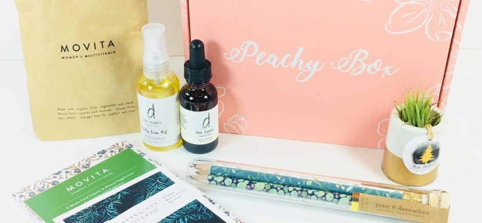 Peachy Box Subscription Box Review + Coupon – April 2018