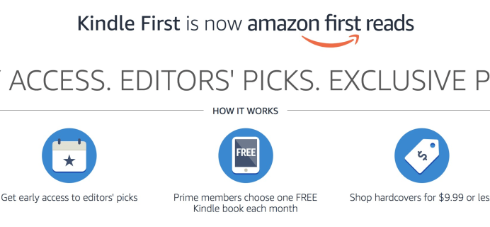Amazon First ReadsApril 2019 Selections: 1 Book Free for Amazon Prime Members
