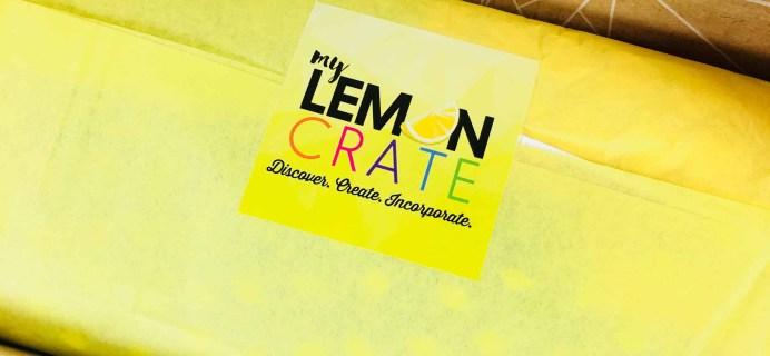 My Lemon Crate April 2018 Subscription Box Review + Coupon