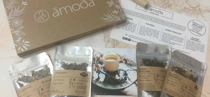 Amoda Tea April 2018 Subscription Box Review + Coupon!