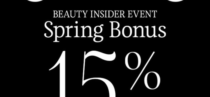 ENDS TONIGHT! Sephora Spring Bonus Sale: 15% Off Site for VIBs!