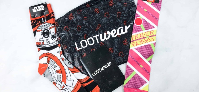 Loot Socks by Loot Crate March 2018 Subscription Box Review & Coupon