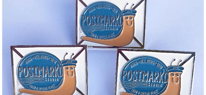 Postmark'd Studio PostBox Coupon: Get 20% Off + FREE Postmark'd Studio Snailmailer Pin!