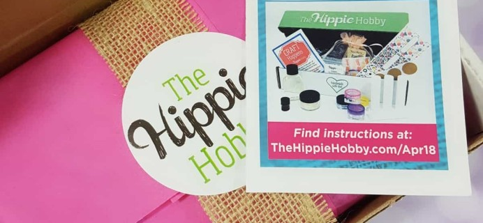 The Hippie Hobby Subscription Box Review & Coupon – March/April 2018