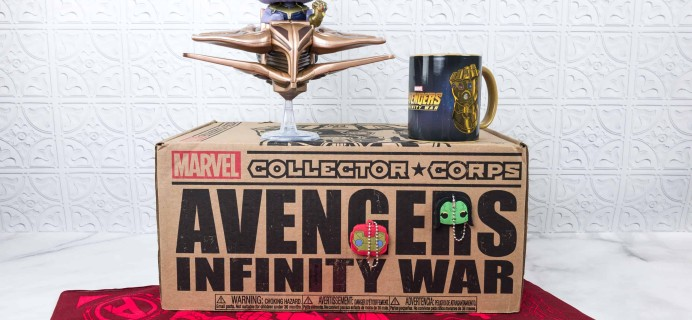 Marvel Collector Corps April 2018 Subscription Box Review – AVENGERS: INFINITY WARS