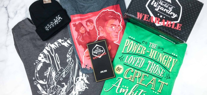 Geek Gear World of Wizardry Wearables Subscription Box Review + Coupon – April 2018