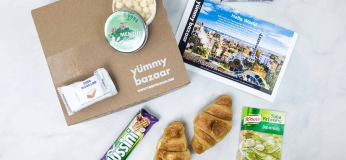 April 2018 Yummy Bazaar Subscription Box Review – Mini Box