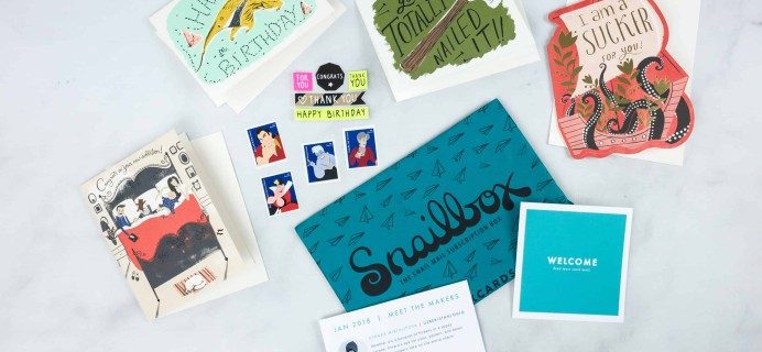 Snailbox January 2018 Subscription Box Review