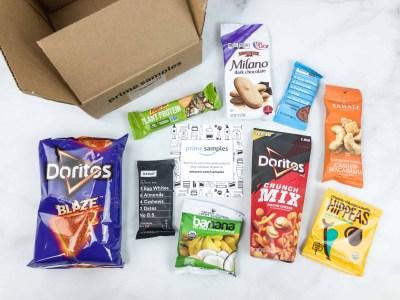 Amazon Prime Snack Sample Box Review