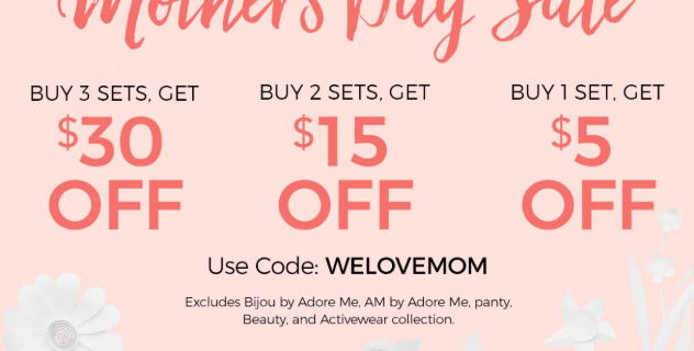 Adore Me Mother's Day Deal: Get Up To $30 Off!