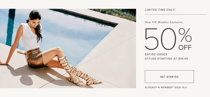 Shoedazzle Coupon: 50% Off Entire Order When You Join!