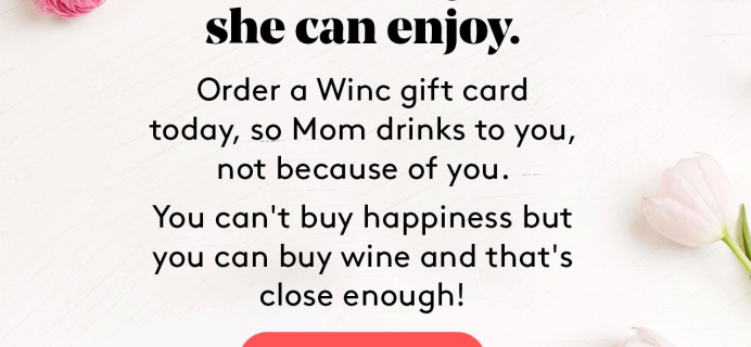 Winc Mother's Day Gift Ideas: Winc Gift Cards + Coupon!