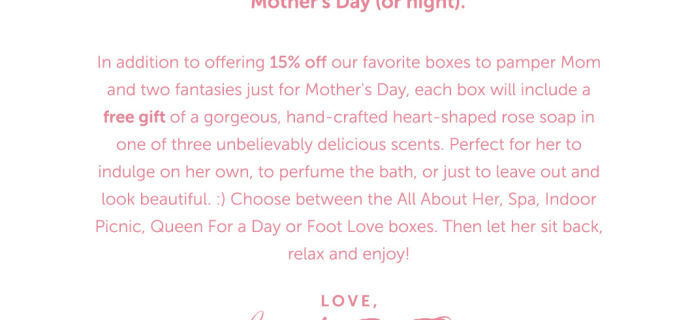 Fantasy Box Mother's Day Coupon: Get 15% Off + Free Gift! {Adult}