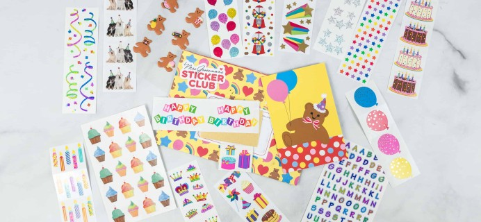 Mrs. Grossman's Sticker Club May 2018 Subscription Box Review + Coupon