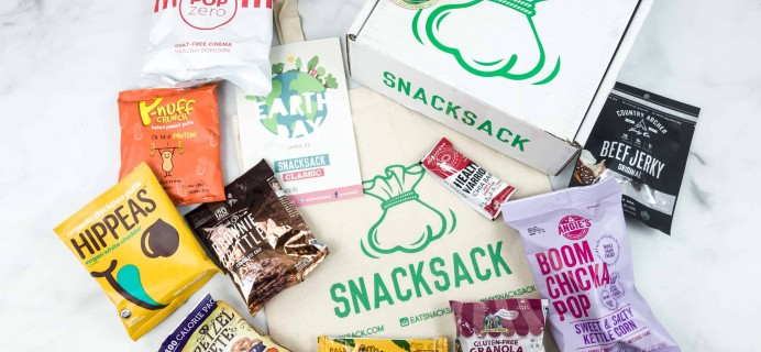 SnackSack April 2018 Subscription Box Review & Coupon – Classic