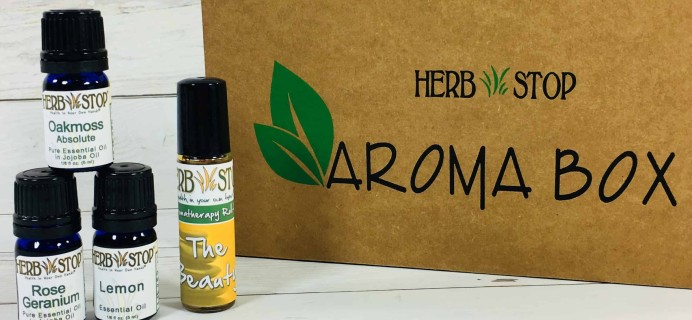 Herb Stop AromaBox Subscription Review & Coupon – May 2018