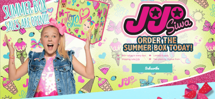 The Jojo Siwa Summer 2018 Box Available Now!