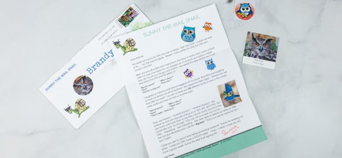 Snail Mail for Kids May 2018 Subscription Box Review – WEEK 3