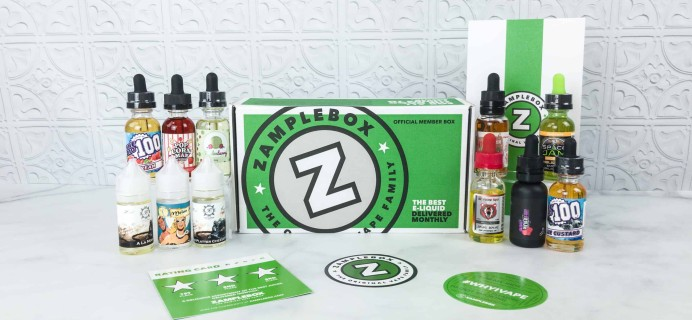 Zamplebox E-Juice May 2018 Subscription Box Review + Coupon!