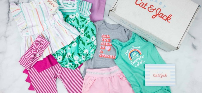 Target's Cat & Jack Baby Outfit Box Girls Subscription Box Review – Summer 2018