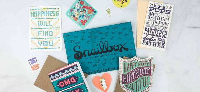 Snailbox May 2018 Subscription Box Review