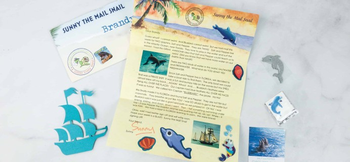 Snail Mail for Kids May 2018 Subscription Box Review – WEEK 2