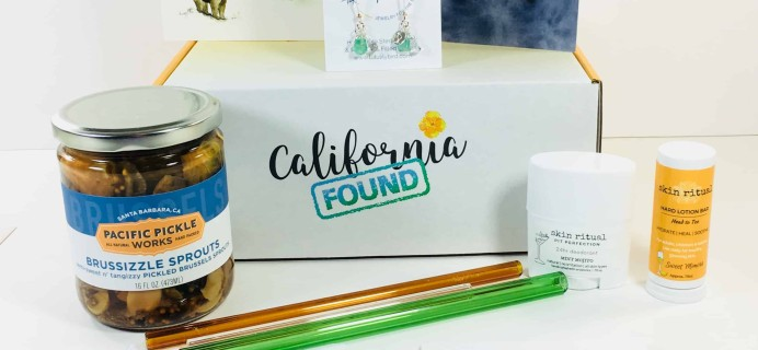 California Found May 2018 Subscription Box Review + Coupon