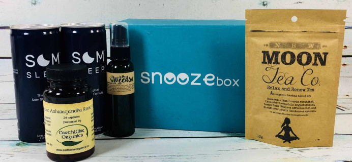 SnoozeBox May 2018 Subscription Box Review