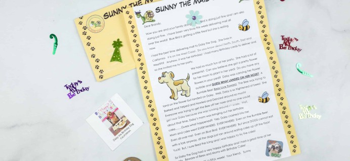 Sunny the Mail Snail Cyber Monday Deal: Take 30% off your entire subscription purchase!