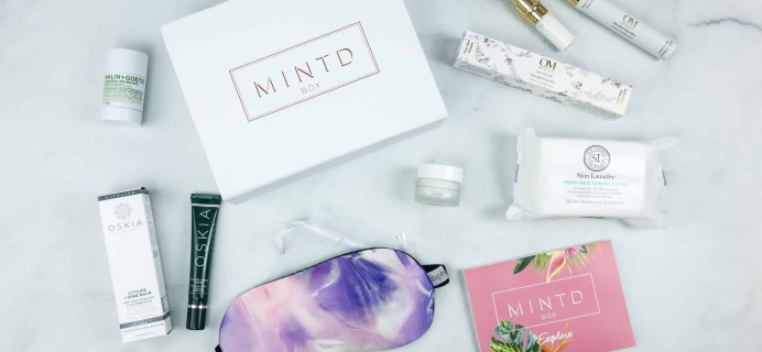 MINTD Box June 2018 Subscription Box Review + Coupon!