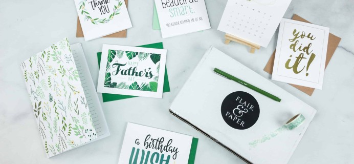 Flair and Paper June 2018 Subscription Box Review