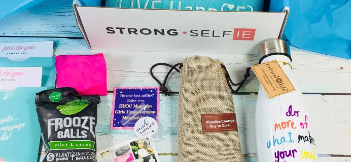 STRONG selfie Subscription Box Review – Summer 2018